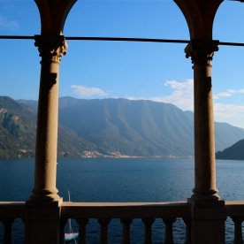 Rooftop terrace views @ Hotel Villa Marie, Lake Como