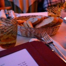 Bread baskets galore @ La Darsena, Tremezzo