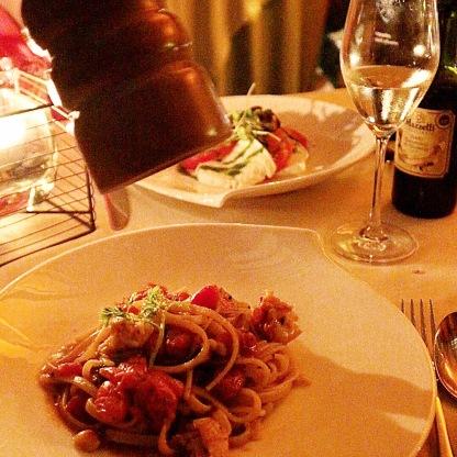 Lobster Linguine @ La Darsena, Tremezzo