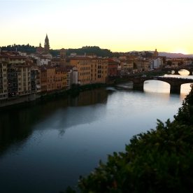 Twilight over the River Arno