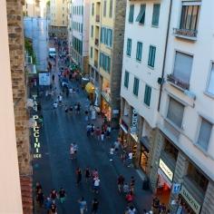 Hotel room views over the Ponte Vecchio