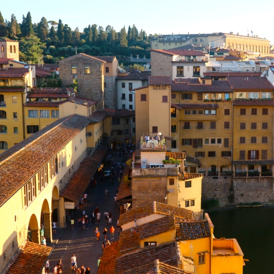 View over the Ponte Vecchio from the Continentale Hotel
