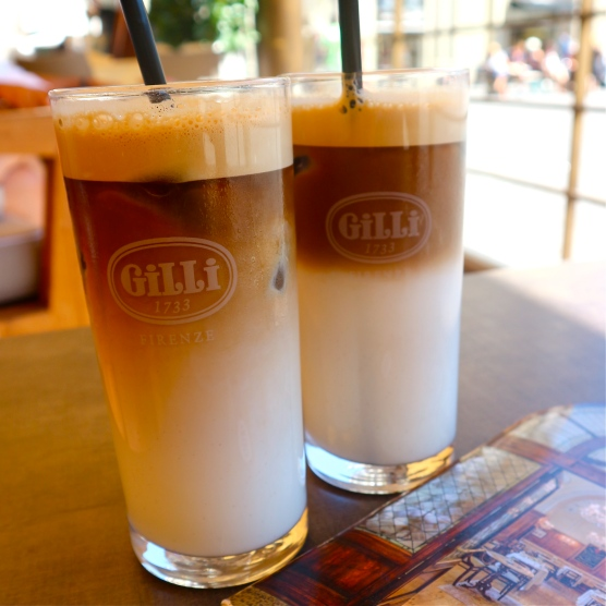Iced Cappucinos at Cafe Gilli