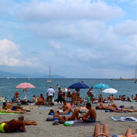 Public beach in Santa Margherita