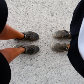 Our shoes, post Cinque Terre hike!