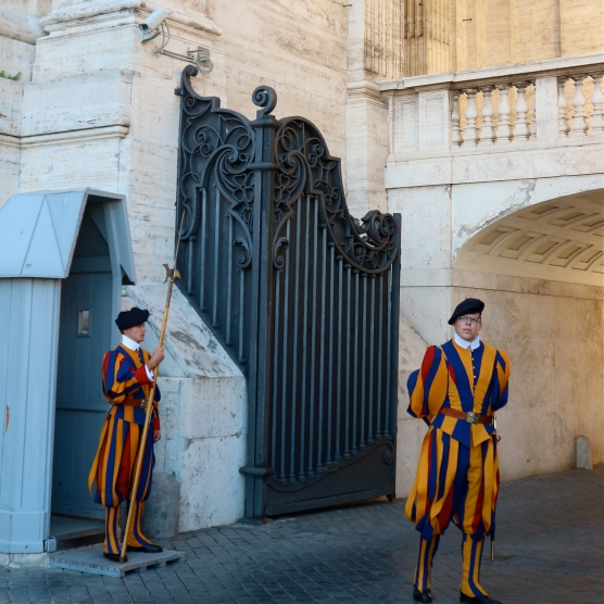 Pontifical Swiss Guards at Vatican City