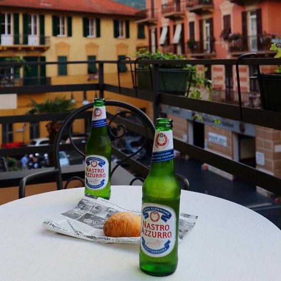 Balcony beers at Hotel Jolanda